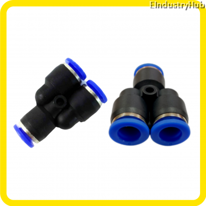 Pneumatic Y Connector Air Fitting Push In Fitting Quick Joint Fitting (PY04,06,08,10,12,16)