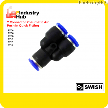 SWISH Pneumatic Y Connector Air Fitting Push In Fitting Quick Joint Fitting (PY04,06,08,10,12,16)