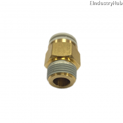 """KQ2H 12mm x 3/8"""" Male Stud Pneumatic Air Push In One Touch Quick Fitting (10pcs)"""