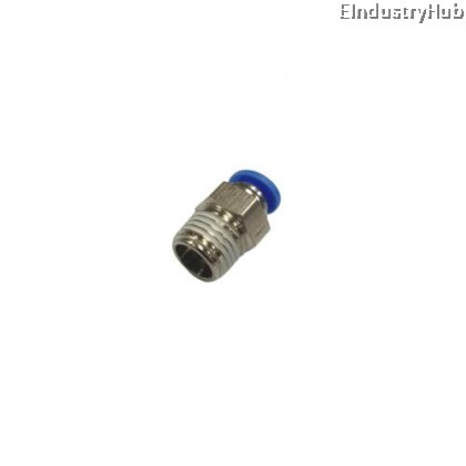 PC06-02 6mm x 1/4 Male Connector Pneumatic Air Push In Quick Fitting (10pcs)