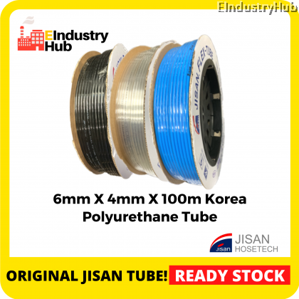 6mm x 4mm x 100m (Roll) Korea Polyurethane Tube (PU Tube) Air Compressor Hose Tube